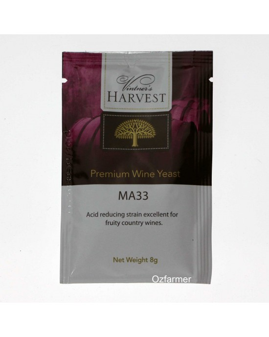 Homemade Wine Yeast  MA33 Fruity White Blush Country Wine.  FREE POSTAGE (Australia Only) (45587)