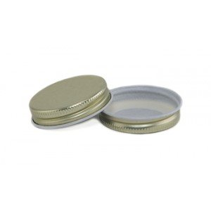 Lid One Piece Screw Top 43 mm Canning and Preserving GOLD