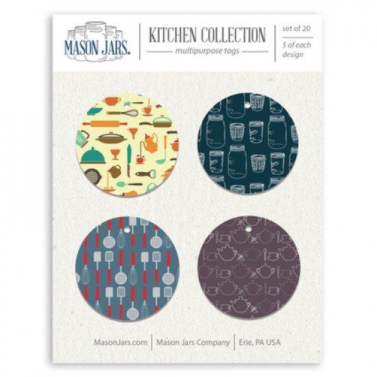 Mason Jar Christmas or Birthday Gift Tags, Kitchen Collection.