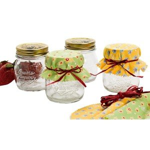 Mason Jar Decorative Fabric Cover with Tie Ribbon: Great for Gifts FREE POSTAGE (Australia Only)