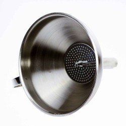 Stainless Steel Funnel with Strainer - Sauces Oils Wines.