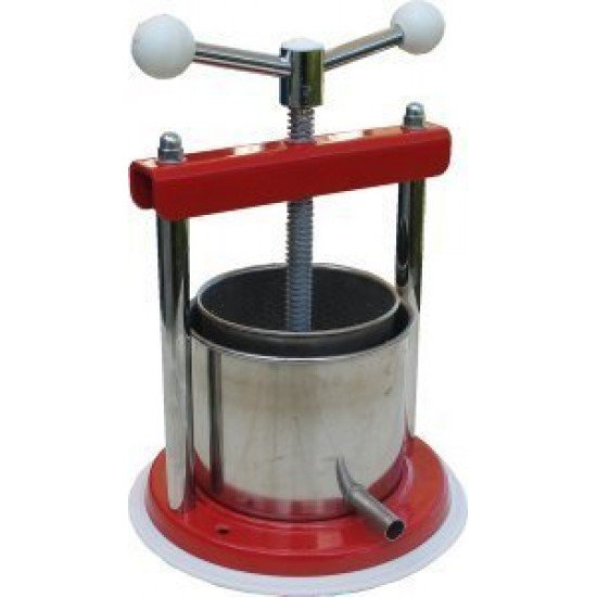 Stainless Steel Wine Fruit Cheese Press Italian Made Quality. (45373)