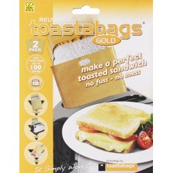 Toast Bags Reusable up to 100 times: No Messy Toasted Sandwiches In The Toaster! Free Shipping!
