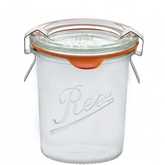 6 x 140ml Weck Rex Mini Tapered Jars (R06140)