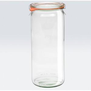 6 x 1 Litre Cylinder Jar WECK - 908