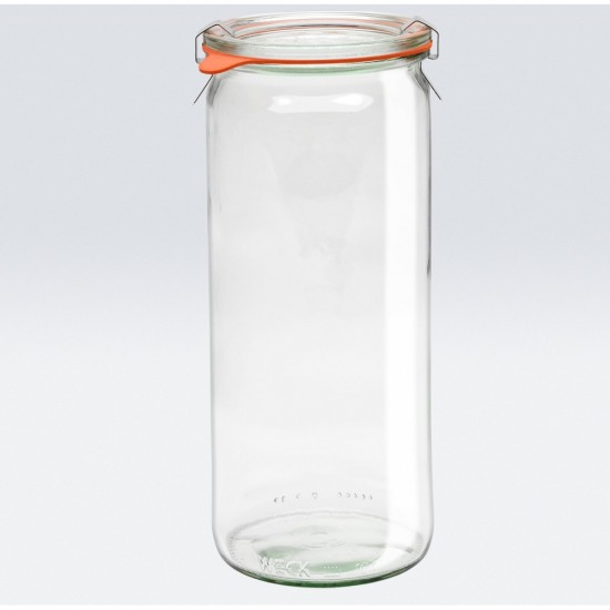 6 x 1 Litre Cylinder Jar WECK - 908 (908 case)