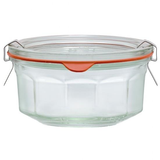 1 x 290ml Weck Rex Multi Faceted Jar Complete - Single R01290 (R01290)