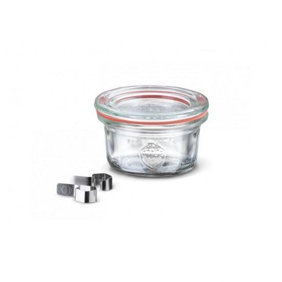 1 x 50ml Mini Tapered Jar Complete  - 755 Weck (755)