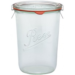 1 x 850ml Weck Rex Tapered Jar Complete  - Single R01850