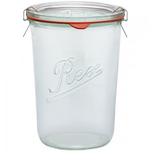 1 x 850ml Weck Rex Tapered Jar Complete  - Single R01850