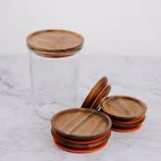 Wooden Lid with Seal to Suit Weck Jars